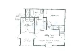 207 Irish Settlement downstairs schematic