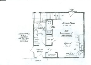 405 Main Street Ext downstairs schematic
